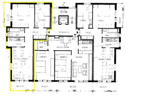 Everest sonnige 3.5 Zimmerwohnung 3.Stock