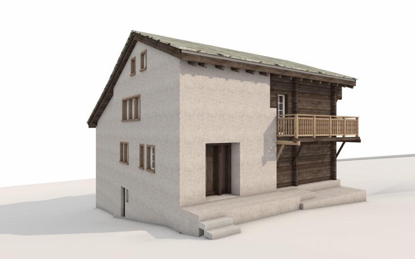Orginales Walliserhaus um 1785 im ältesten Dorfteil Untere Gasse erbaut.