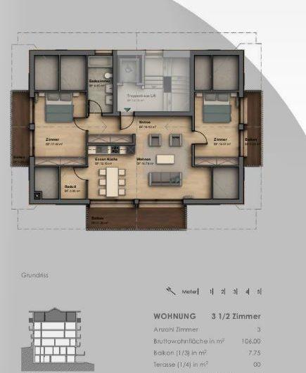 Appartement mansardé dans un emplacement de rêve central