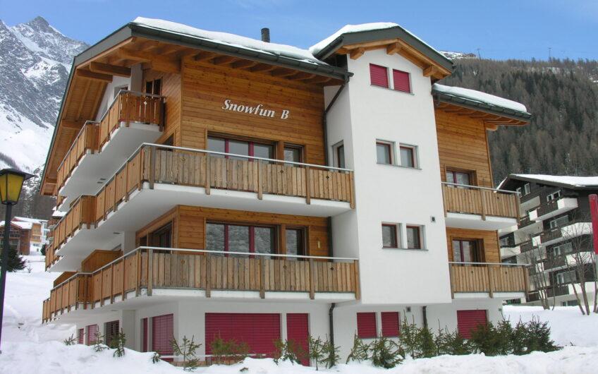 Snowfun B 3.5 room apartment ski in ski out